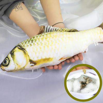 물고기 고양이 캣닢 장난감 용품 40cm (황녹붕어)