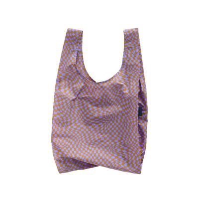 [바쿠백] 접이식 시장가방 Lavender Trippy Checker