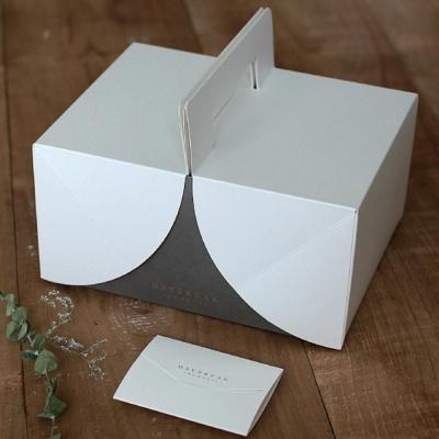 선물 상자 손잡이 예쁜 포장 종이 케이크 박스