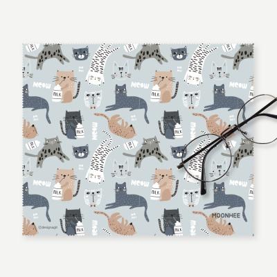 [주문제작]안경닦이 패턴 고양이를부탁해