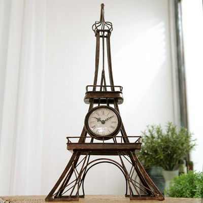홈가든 클래식 에펠타워 탁상시계