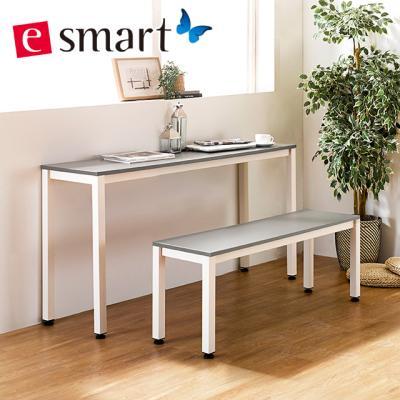 [e스마트] 스틸 2인용식탁 1200x400 (일자다리)