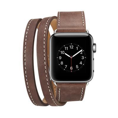 애플워치밴드 1 2 3 4 5 스트랩 시계줄 가죽 더블밴드