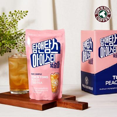 탐앤탐스 복숭아 아이스티 파우치 230ml x 10ea