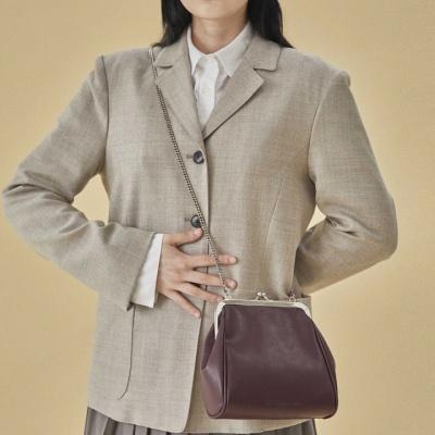 10/22[펀프롬펀]Olsen frame mini bag (burgundy)