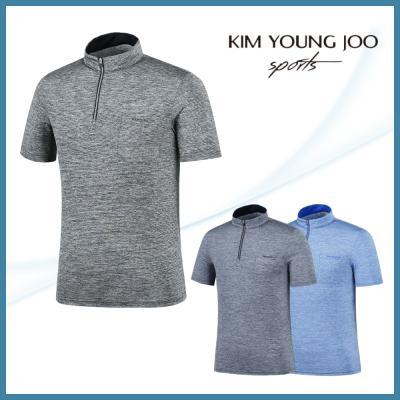 김영주스포츠 남성 쿨스킨 집업 티셔츠 K9RMSH1467