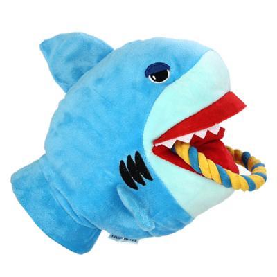 반려견 강아지 터그놀이 상어 장난감