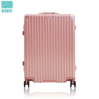 [KIKO] 100%PC/USB충전 스마트 캐리어 핑크
