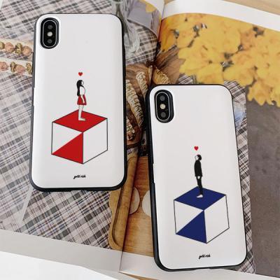 아이폰7플러스 골드리치 큐브 카드케이스