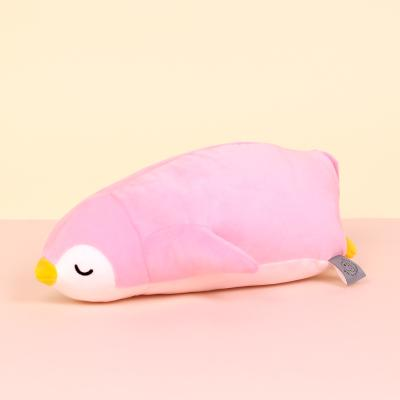 모찌모찌 꿀잠쿠션인형 펭귄(핑크) 소 동물인형