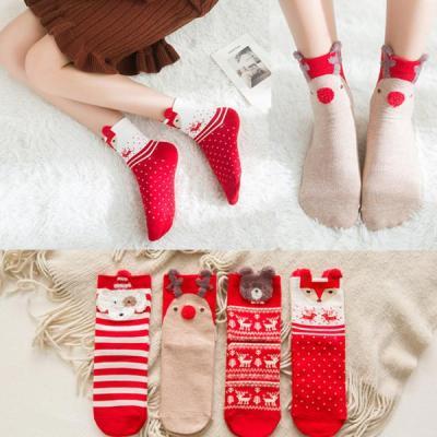 [4켤레세트]클스 여성 겨울 크리스마스 수면양말