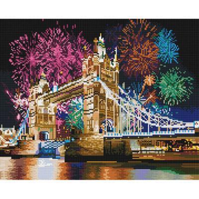 런던 브릿지 (캔버스형) 보석십자수 40x50