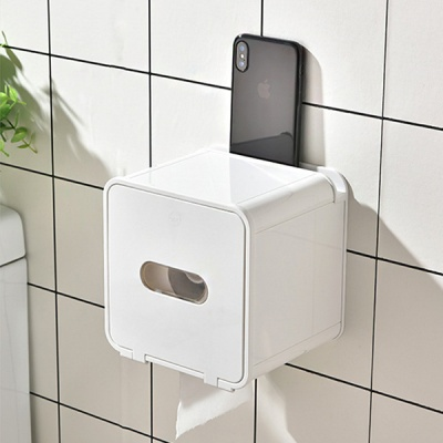 욕실 무타공 스마트폰거치 선반형 모던 롤티슈 거치대