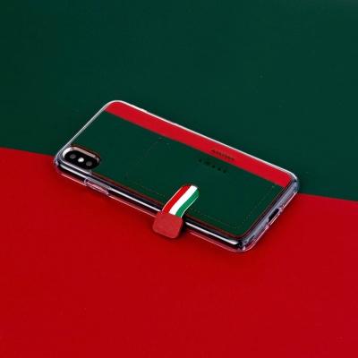 스매스 아이폰XR/XS MAX 가죽 포켓 바 카드 케이스 이지포켓H