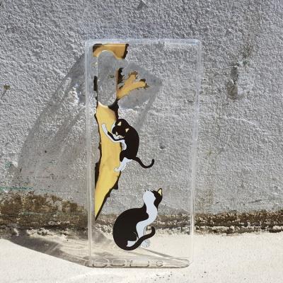 전통 민화 시리즈 묘작도 고양이 젤리 케이스