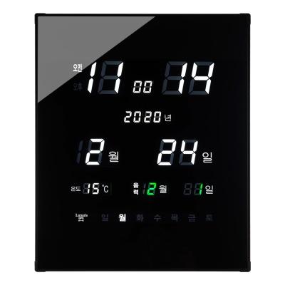 국산 루나리스 GPS수신 리치 온습도 LED 전자벽시계