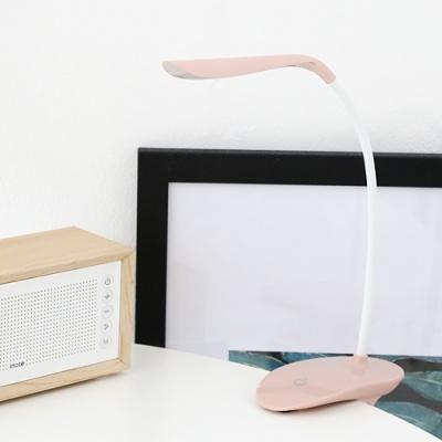 아이린 충전식 무선 집게형 LED 스탠드,핑크