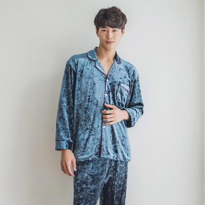 [쿠비카]블링블링 벨벳 2컬러 남성잠옷 BNBR-M065
