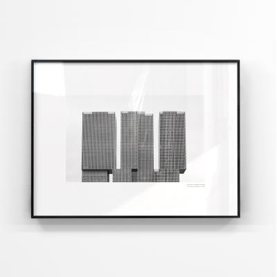 미니멀리즘 블랙앤화이트 콘크리트 대형액자 MBW103-60x80