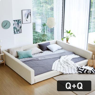모닝듀 쿨잠 패밀리침대 가족형-2 Q+Q(양면매트)OT045
