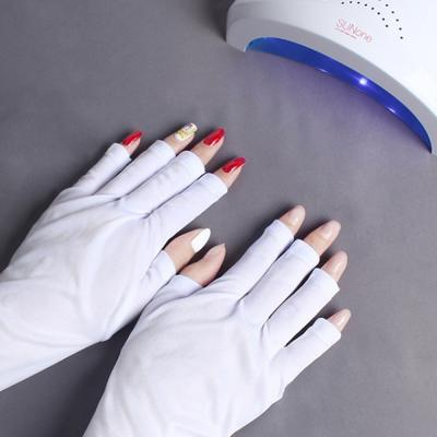 UV 자외선 차단 네일장갑 네일아트 손 손등 보호 장갑