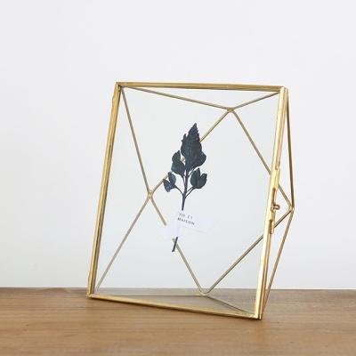 PRISMA GLASS FRAME - BRASS