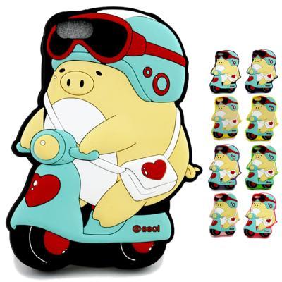 아이폰 5용 뚱스 스쿠터3D 실리콘케이스 (12색상 중 선택)