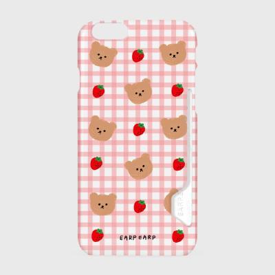 Dot strawberry check-pink(카드수납케이스)