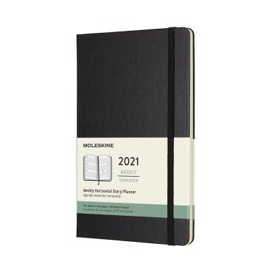 몰스킨 2021위클리(가로형)/블랙 하드 L