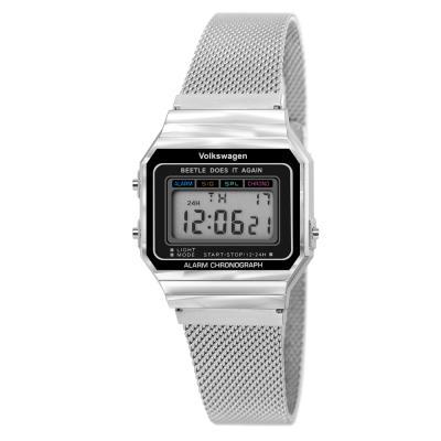 [폭스바겐] 레트로 디지털 메쉬밴드 손목시계