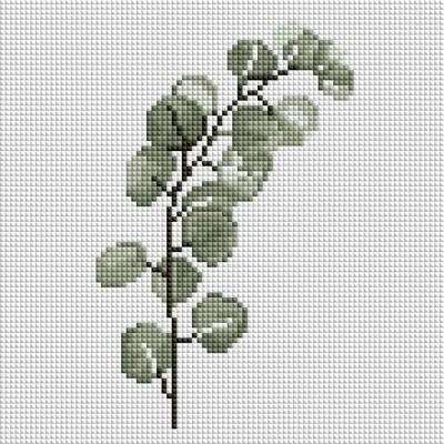 유칼립투스 가지 (캔버스형) 보석십자수 25x25