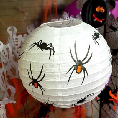 할로윈종이등 30cm 거미 점등 장식 소품
