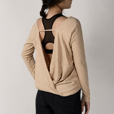 모달 슬러브 드레이프 커버 티셔츠 DFW5012 베이지