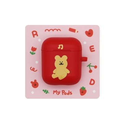 [한톨상점]룰루반곰이 에어팟케이스(빨강)
