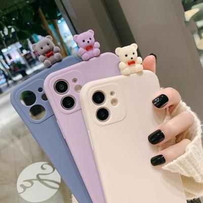 아이폰SE2 8 7+ 입체 곰돌이 피규어 실리콘 폰케이스