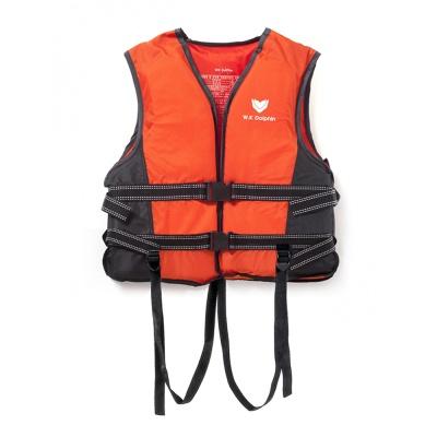 국산 돌핀 오렌지 구명조끼(L)/ 수영 부력보조복