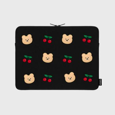 [10.23 예약발송]Dot cherry bear-13inch pouch