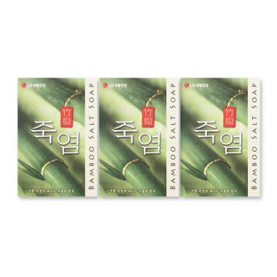 세안비누 천일염 대나무 추출물 죽염 비누 100g x 3입
