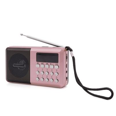 휴대용 라디오 스피커 / 효도 라디오 (핑크) LCYX975