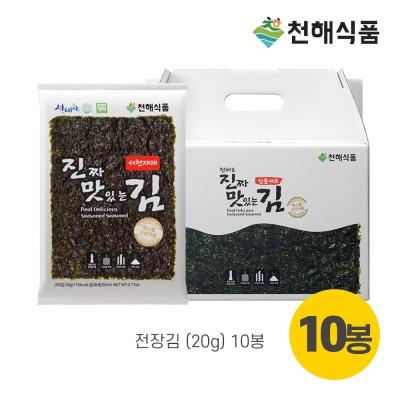 천해김 선물세트 달1호(전장김20gX10봉)