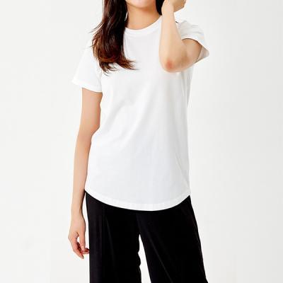 [세컨투넌] 모달 라운드 티셔츠