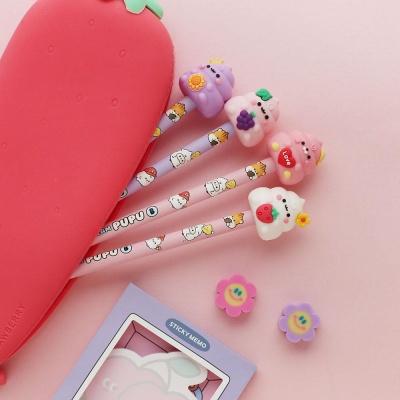 핑크풋 푸푸12본피규어연필세트