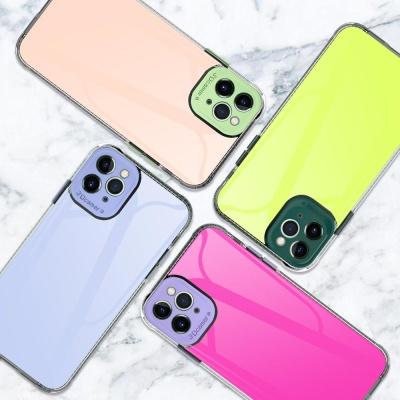 아이폰11 PRO MAX 카메라보호캡 컬러 젤하드 폰케이스