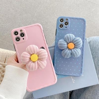아이폰11 pro max xr xs se2 8 니트 꽃 그립톡 케이스
