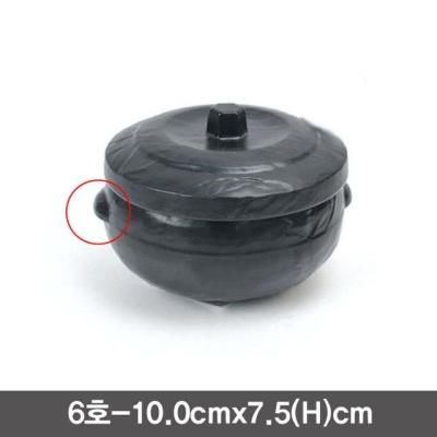 퓨전토기 돌무늬 양념단지 소스통(6호)