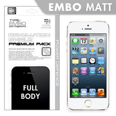 [프로텍트엠/PROTECTM] 아이폰5s/iPhone5s 레볼루션쉴드 엠보팩 지문방지 전신보호필름+액정보호필름