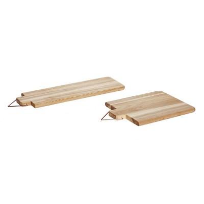 [Hubsch]Cutting board w/copper handle, ash, s/2 389003 도마