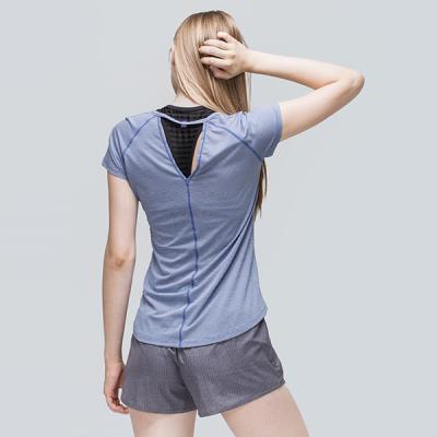 [TS7047 블루]여성 기능성 운동복 서플렉스 반팔 요가복