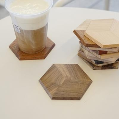 3D리얼 우드코스터 컵받침 (두께6mm) 4종