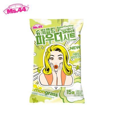 미스사사 슈퍼 쿨링 파우더시트 - 레몬그라스